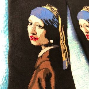 Socks depicting Girl With A Pearl Earring